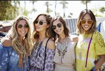DANNIJO Road Trips to Coachella / A journey can be measured not just in miles but also in friends.  From Los Angeles to Palm Springs, the Mercedes-Benz vehicles were the perfect way to for these designers to get to their final destination. Check out how @dannijonewyork was inspired by the 1970s for their Fall 2015 collection debuted at an exclusive weekend in Palm Springs.