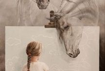 Animals in Art / Inspiration on how other artists portray our best friends on this earth.