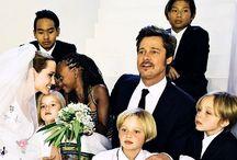 Família Pitt-Jolie / Fotos da vida de Angelina , Brad ,filhos incluindo carreira