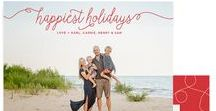 Christmas / Holiday Cards / Unique holiday photo greeting cards with style and simplicity, and completely customizable. Simple and modern, personalized, holiday photo cards featuring free backer options.