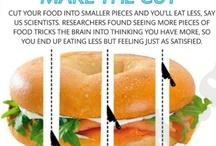Portion control strategies / Tips & tricks, tips to control your internal dialog about food.
