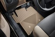 All-Weather Floor Mats / The WeatherTech® All-Weather Floor Mats have deeply sculpted channels designed to trap water, road salt, mud and sand. Our proprietary engineered odorless resin ensures that these mats will not curl, crack or harden in sub-zero weather.  Our All-Weather Floor Mats also have anti-skid ridges to prevent shifting in your vehicle and come with a protective, non-stick finish to make cleanup quick and easy.