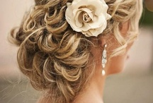 Wedding Hair for the Bride / Up, down, half up half down, flowers or jewels; short or long styles.