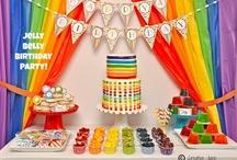 Rainbow Birthday Party Ideas / @Mindy_Cone