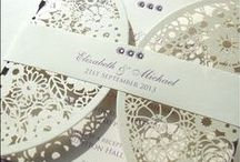 Laser Cut Wedding Invitations / Laser cut wedding invitations in a variety of designs.
