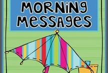 Morning Meeting / messages, activities, greetings and assorted morning meeting odds and ends.
