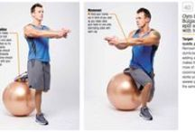 Swiss ball exercises / Because I never know what to do with a Swiss ball