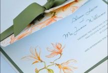 Floral Wedding Invitations / A selection of wedding invitations with a floral theme.
