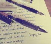 Fountain Pens / Plumas estilográficas y escritura a mano.