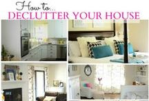 Cleaning & Organizing clutter / Cleaning and Organizing around the home / by Penny Seear