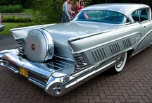 """Cars and Trucks and Things that GO / """"Get out of my dreams and into my garage.""""  I miss the glorious variety of styles in the vehicles of yesteryear. Cars all look alike now - BORING!  / by Rain Harry"""