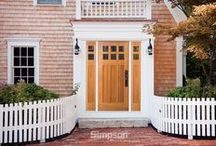 Simpson Nantucket Collection Doors / Simpson Door Company's Nantucket® Collection of exterior wood doors combines durable, weather-resistant wood species with a modified mortise-and-tenon construction technique for beautiful, long lasting wood doors. From the harsh coastal weather of the North Atlantic to the mild, temperate climate of the Pacific Northwest, Nantucket Collection doors can help make a house a home anywhere and will retain their beauty regardless of what nature sends their way. / by Simpson Door Company