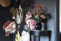 FLORAL WALLS | Home Decor 2016 / Giant florals, contemporary florals, bright florals, dark garden florals - FLORAL WALLS are a big trend for interiors and home decor in 2016.  Get some up on a feature wall and take your colours and styling from it's lead, and enjoy bringing nature inside.