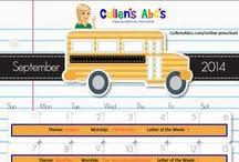 DIY Online Preschool  / Cullen's Abc's DIY Online Preschool at CullensAbcs.com