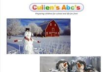 Snowmen, Snowflakes & Snowballs / Cullen's Abc's DIY Online Preschool at CullensAbcs.com