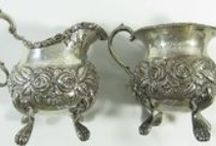 Silver & Flatware Pieces / Beautiful ornate sterling silver pieces and flatware sets! Perfect for decorating your home or setting the table! Bid online now! #POGAuctions / by Pot of Gold Auctions