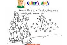 Christian Art Patterns / A collection of preschool art patterns from Cullen's Abc's that focuses on Christian content.