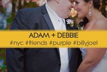"""NYC Friends Wedding / DEBBIE + ADAM """"Because I Have Never Been So Sure"""" Adam and Debbie love a few things. Their family. The show """"Friends"""". Purple and NYC / Hoboken, NJ."""