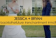 Back To The Future Wedding / THE ENCHANTMENT UNDER THE SEA Back To The Future Inspired Designs  Jessica is in theatre. Bryan is in music and production. Together they are Marty and Lorraine McFly. Maybe not in personality but rather in a wonderful love affair.