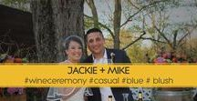 """Wine Ceremony Wedding / JACKIE + MIKE """"Eat, Relax and Dance"""" Tear Away RSVP Card at bottom of Invitation"""