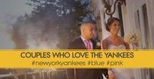 """NY Yankees Wedding Designs / The New York Yankees. We compiled some designs from various couple requests to have a New York Yankee theme design for their Wedding. From Save the Date through Thank You Cards and a lot more """"Pinstripe"""" designs in between."""