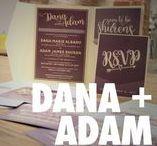 Purple and Gold Wedding Invitation / Purple and Gold Wedding Invitation