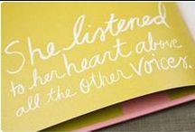 Listen  / One Little Word 2012 / by Katie Mitchell
