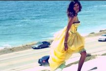 Ballgowns on the beach / Deborah Lindquist Eco Couture Brightly Colored Ballgowns Photographed on the Beach. Plus styling ideas we love. / by Deborah Lindquist
