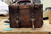 Leather Suitcase / bag  / by Léo Begin