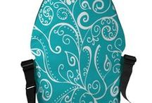 Personalized Messenger Bags / Personalized Designer Rickshaw Messenger Bags. Available in 3 sizes. Personalize these bags by selecting your favorite bag and trim color combination. View all bags: http://www.zazzle.com/antepara?rf=238619697151147338