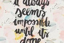 Inspirational Quotes / Inspirational quotes, funny quotes, wisdom, hand lettering, calligraphy, song lyrics, bible verses