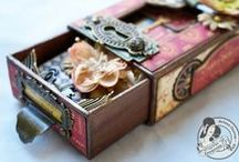 Altered Boxes & Tins / Altered Boxes, Altered Tins, Altoid Tins / by Marjie Kemper Designs
