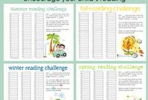 Reading Challenge Ideas / Parents and teachers can develop fun and inspiring ways to challenge devoted and reluctant readers to pick up a book