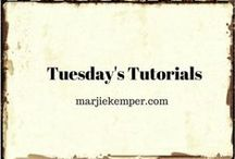 Blog Series:  Tuesday's Tutorials & Tuesday's Texture / Recurring Blog Series - every single Tuesday I promote a new featured artist with their own art tutorials http://marjiekemper.com/blog-series / by Marjie Kemper Designs