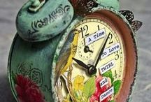 Altered Clocks / Altered Clocks and Assemblage Clocks / by Marjie Kemper Designs