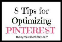Tips - Pinterest / ways to use Pinterest effectively / by Marjie Kemper Designs