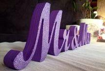 Purple Wedding Ideas / Creative and beautiful ways to incorporate purple into your wedding decor.