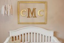 Nursery Colors: A Pop of Gold / It gives it a little somethin' extra, don't you think?