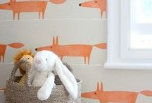 Nursery Colors: A Pop of Orange / It gives it a little somethin' extra, don't you think?