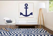 Nursery Colors: A Pop of Navy / Navy is our Neutral!
