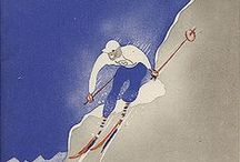 Vintage Ski Posters - France / See other boards for Swiss, Austrain, Italian, Scandinavian, North American etc. vintage ski posters. / by Poppy Gall