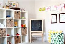 Interiors: Play Room / Great home decor and design of kids play spaces to encourage creativity.  / by Brooke Berry