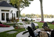 """Lake Home Exteriors / As an experienced lake home builder, we are here to guide you through the planning process. Whether it be on a lake or river, there are planning details that you just don't find in a """"regular"""" home. We have built homes on lakes and rivers in both Northern Indiana and Southwest Michigan and look forward to building your next waterfront home. #Lake Home #Lake House"""