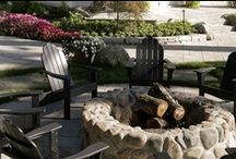 Outdoor Fireplaces & Firepits / Michiana is cold up to 9 months of the year. Extend your enjoyment of the outdoors by adding a firepit or outdoor fireplace to your backyard landscape.