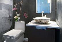 Powder Room / Powder Room ideas. The small bath with a lot of style. #PowderRoom #HalfBath