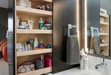 Bathroom Storage & Design Ideas / Bathroom Storage, Bathroom Storage Ideas, Customized Cabinetry, Customized Bathroom Storage, customized vanities, linen storage, linen closets, shelves, hidden storage, linen cupboards, medicine cabinets, in between the studs storage, bathroom design ideas, bathroom organization