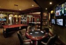 Man Caves / Man Caves, Billiard Rooms, Cigar Rooms, Harley Rooms, Game Rooms, Indoor Bowling Alleys, Indoor Basketball Courts, Indoor Putting Greens, Home Arcades, Bachelor Pads, Trophy Rooms, Gun Safes, Sport Courts, Poker Rooms, Card Rooms, Golf Rooms