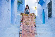 Tapis du Maroc / Idées des tapis marocains Tapis artisanals, anciens, de couleur. Boucherouite, Beni Ourain, Kelim.