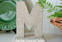 DIY Burlap Ideas / Incredible Burlap projects for your home and the holiday seasons. Home decor ideas, party ideas, craft ideas using burlap via Uncommon Designs. / by Uncommon Designs