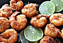 Savory seafare / I LOVE seafood...since I prepare very little meat (for my husband and sometimes my daughter), we eat tons of seafood ~ you name it!  Our oldest favors...pink fish (salmon), lobster and scallops.